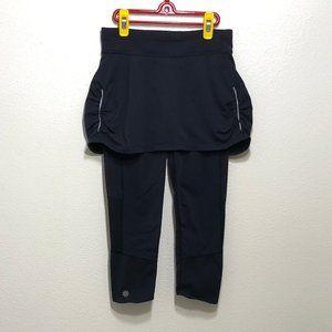 Athleta 2 in 1 Skirt Capri Blk Skirted Leggings XS